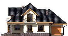 Ariadna I - Dobre Domy Flak & Abramowicz Bungalow House Plans, House 2, Simple House Design, Plan Design, Minimalist Home, Home Fashion, Floor Plans, Cabin, Contemporary