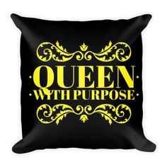 Queen With Purpose Pillow glamadore.storenvy.com