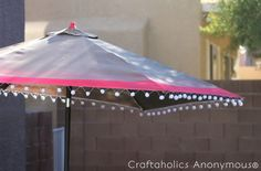 Craftaholics Anonymous® | Such a fun DIY for an outdoor umbrella! Its an easy pattern to follow and so fun.
