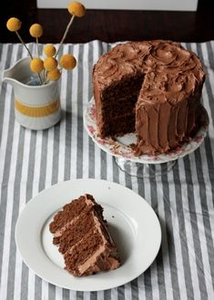 Classic Chocolate Cake with Mocha Buttercream