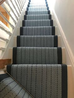 Cost Of Carpet Runners For Stairs Key: 4429350008 Wooden Staircase Railing, Carpet Staircase, Staircase Runner, Staircase Design, Stair Design, Navy Stair Runner, Stair Runners, Stair Carpet Runner, Stairway Gallery Wall