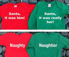 Santa it was her/him. Back says Naughty and Naughtier. by PropMama, $24.00