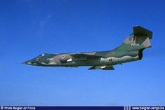 Lockheed F-104G Starfighter FX-99 on one of its last flights with the Belgian Air Force in 1983.