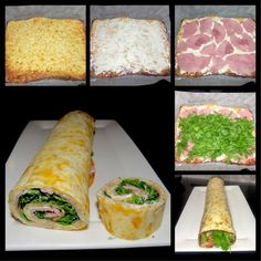 Low Carb Pfannkuchenrolle (Low carb pancake roll) And another low carb roll, this time my classic with cream cheese, ham, rocket. Non-low carblers can also make the original. Low Carb Keto, Low Carb Recipes, Vegetarian Recipes, Meal Recipes, Pancake Roll, Law Carb, Low Carb Pancakes, Low Carb Cheesecake, Le Diner