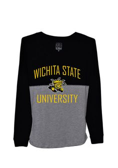 Wichita State Shockers Womens Gameday Jersey Tee http://www.rallyhouse.com/shop/wichita-state-shockers-womens-black-sideline-jersey-long-sleeve-tshirt-16170125?utm_source=pinterest&utm_medium=social&utm_campaign=Pinterest-WSUShockers $39.99