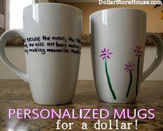 Personalized Mugs - Homemade Gift Idea