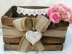 Rustic Wedding Rustic Tips and great suggestions to put together more than a beaut rustic chic wedding decorations diy Wedding idea number 6390903414 generated on 20181202 Rustic Card Box Wedding, Chic Wedding, Wedding Table, Wedding Vintage, Wedding Card Boxes, Wedding 2017, Post Box Wooden, Bodas Shabby Chic, Diy Card Box