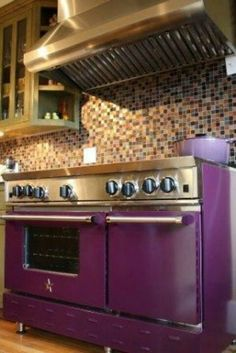 PURPLE stove...