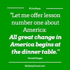 """""""All great change in America begins at the dinner table.""""  - LIKE if you agree that the family core is where lives are most impacted.   Learn more at: ShiloahJordan.com"""