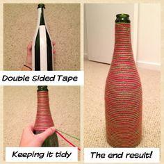Christmas Yarn Bottle - First Pinterest make ever!