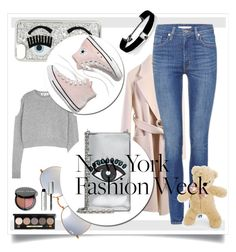 """""""What to Wear to NYFW"""" by kari-c ❤ liked on Polyvore featuring Acne Studios, Kenneth Jay Lane, Levi's, McQ by Alexander McQueen, Chiara Ferragni, Madewell, Ray-Ban, Kenzo, Bobbi Brown Cosmetics and INC International Concepts"""