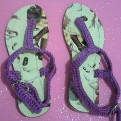 Sandalias para niña tejidas