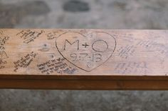 guest book bench - love this so much!
