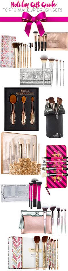 One of the easiest and much-loved gifts to give a beauty girl is a makeup  brush set. Makeup brushes are essential to a makeup routine, and every  beauty girl covets her brushes. The holidays are the perfect time to grab a  brush set for yourself or as a gift as they come in a variety of  configurations for full makeup, eyes and everything in between. Here are  the top makeup brush sets that I have found this holiday season.