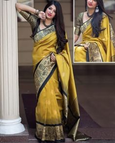 We brings you all new collection of pure Weaving Silk Sarees Pair this Saree with matching accessories to look trendy and gorgeous, and enhance your charm. Raw Silk Saree, Indian Silk Sarees, Pure Silk Sarees, Bengali Saree, Bollywood Saree, Work Sarees, Party Wear Sarees, Fancy Sarees, Saree Blouse Designs