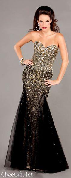 JOVANI - Black & Gold Gown