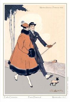 montevideanos del '900 retrados con elegancia y un toque de humor. Elige estas estampas para dar un toque de glamour a tu ambiente preferido http://www.salgariposters.com.uy/coleccion/3c59dc048e8850243be8079a5c74d079/emilio-centurion-1894-1970