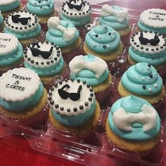 2 dozen Custom Tiffany cupcakes