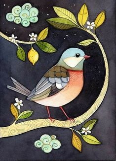 Hitku One Night In Lemon Garden By Afsaneh Tajvidi Cutie - Hitku One Night In Lemon Garden By Afsaneh Tajvidi Visit Finding Neverland Hitku One Night In Lemon Garden By Afsaneh Tajvidi Bird Illustration Simple Bird Drawing Drawing Birds Bird Drawings Le # Art And Illustration, Vogel Illustration, Friends Illustration, Birds And The Bees, Bird Wall Art, Watercolor Bird, Tattoo Watercolor, Watercolor Design, Watercolor Animals