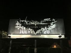 The most fitting movie billboard you'll see all day #darkknightrises