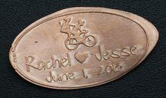 Personalized Wedding Favor Unique Custom Pressed Penny
