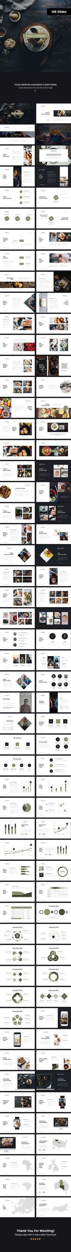 Food Vintage 3 Powerpoint Template