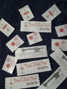 DIY CLOTHING LABELS  Using photo transfer paper and twill tape! Thanks! I made them!