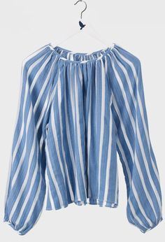 The MiH Jeans Peasant Shirt in Greek Stripe.