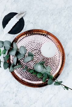 marble, copper + eucalyuptus | broste copenhagen via HouseofC