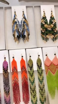 Beautiful shipment of handmade beaded earrings is on its way to you! Thank you for choosing LubaRo earrings! Hand made with love and attention to details! Unique combinations of colors! Elegant and exquisite earrings! Seed Bead Jewelry, Bead Jewellery, Seed Bead Earrings, Diy Earrings, Handmade Beaded Jewelry, Beaded Jewelry Patterns, Earrings Handmade, Bead Loom Patterns, Beading Patterns
