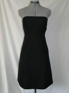 J Crew Black 100% Cotton Sleeveless Dress Sz. 6P
