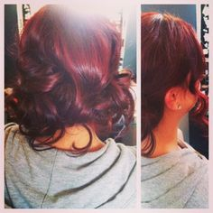 Love this cherry cola-esque hair color