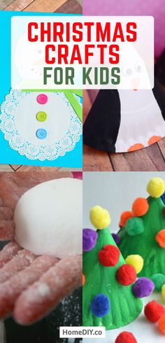 Christmas Crafts For Kids To Make – 18 DIY Easy Decorations For Children. Are you looking for some fun and easy Christmas crafts for kids to make at home or in school? Here is a collection of DIY decorations you can make together with your children! Diy Hanging Shelves, Diy Wall Shelves, Christmas Crafts For Kids To Make, Simple Christmas, Christmas Activities, Kid Activities, Christmas Decor, Christmas Ideas, Mason Jar Crafts