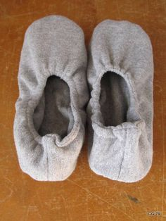 Slippers from Old sweatshirts :)