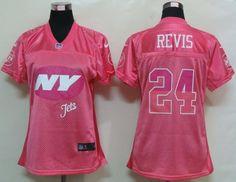 Women s Nike New York Jets  24 Darrelle Revis Elite Pink Fem Fan NFL Jersey 31d5e767d