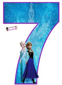 Frozen: Free Elsa and Ana Alphabet. Frozen: Bello Alfabeto Gratis de Elsa y Ana. Frozen Birthday Party, Frozen Tea Party, Sofia The First Birthday Party, Frozen 1, Frozen Free, Frozen Cupcake Toppers, Frozen Cupcakes, Frozen Cake Topper, Happy Birthday Printable
