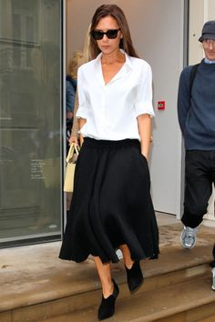Victoria Beckham Smartens Up Out And About In London, 2014