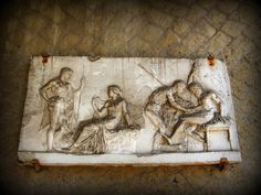 Telefo curato da Achille. Altorilievo, Casa del Rilievo di Telefo, Ercolano Greek Mythology, Decor, Home, Decoration, Decorating, Deco