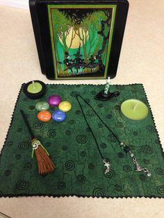 Little Dancing Witches Travel Altar by CraftyOlBats on Etsy