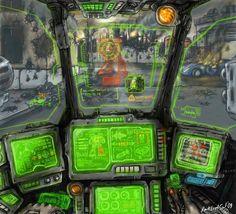 Mech cockpit by DarkLostSoul86 on DeviantArt