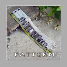 Peyote Beading Pattern : Stonehenge Bracelet Cuff - Instant Download