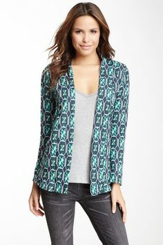 Renee C Printed Long Sleeve Cardigan on HauteLook