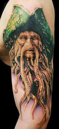 Amazingly detailed Pirates of the Caribbean tat