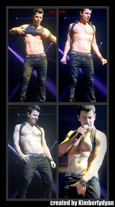 <3 NKOTB ~ Jordan ~ created by Kimberlydyan <3  KISS at The Package Tour - man was this sexy as hell