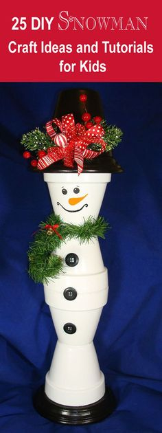 25 DIY Snowman Craft Ideas and Tutorials for Kids Xmas Crafts To Sell, Easy Christmas Crafts, Homemade Christmas Gifts, Dollar Store Crafts, Christmas Projects, Christmas Fun, Christmas Wreaths, Clay Pot Crafts, Hand Crafts