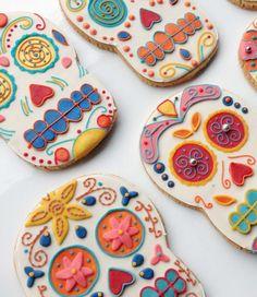 Día de los Muertos (Day of the Dead) cookies.