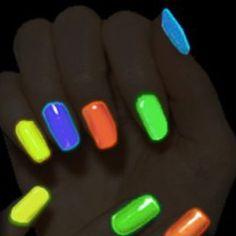 DIY glow in the dark nail polish!!  Break a glow stick put it in clear nail polish. Great for bonfires