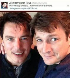 Oh man Fillion and Barrowman in one picture, so hard to decide which category this fits in other than AWESOME!