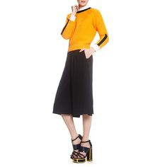 Cropped Cotton Sweater Orange by PAPER London
