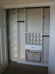 Reach In Closet Design Ideas closet design ideas small reach in for storage tidy floating Reach In Closet Is There Enough Depth To Do This On One Side And Is It An Economical Use Of Space Closet Pinterest Closet